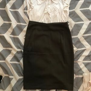 H&M Size 2 Olive High Waisted Pencil Skirt